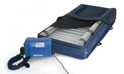 LAS Turn mattress replacement system for low air loss therapy with lateral positioning function