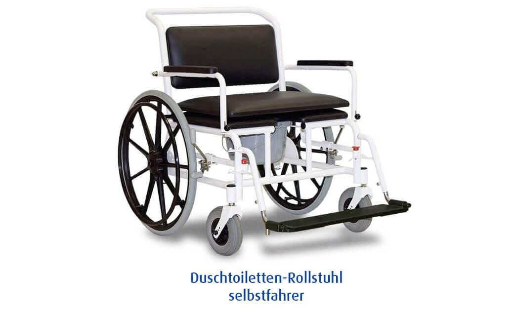 Duschtoiletten Rollstuhl selbstfahrer