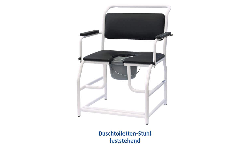 Duschtoiletten Stuhl feststehend